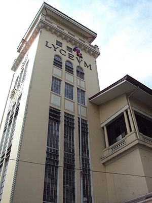 Lyceum of the Philippines University - The Lyceum tower is a defining feature of Intramuros