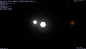 WZ Cephei - Image: WZ Cephei binary