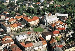 Aerial view of Main Square