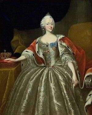 Princess Louise of Denmark (1726–1756) - Portrait by Johann Salomon Wahl, before 1756