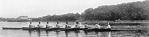 Flushing Bay - Wahnetah Boat Club training on Flushing Bay, 1917.