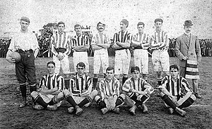 Montevideo Wanderers F.C. - The team of 1906 that won the Primera División and Copa Competencia championships.