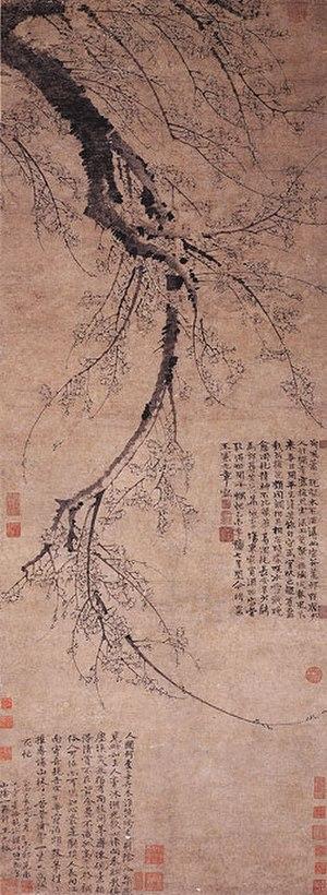 Wang Mian - Image: Wang Mian, Blossoming Plum