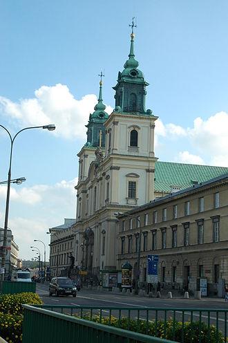 Świętokrzyska Street, Warsaw - Holy Cross Church (on  Krakowskie Przedmieście), for which ulica Świętokrzyska is named