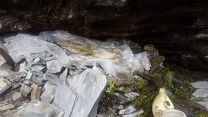 Tinno, Lahaul - Medicinal water collected at Zong gompa