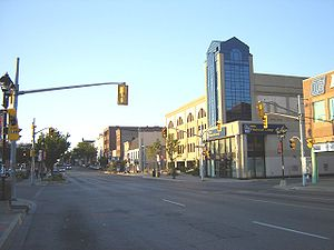 Waterloo, Ontario - King Street South in Uptown Waterloo.