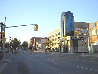 Waterloo Regional Road 15 - King Street South is the heart of Uptown Waterloo.