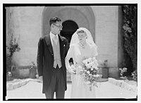Wedding, Mr. Paton & Sister Sloan, June 23, '43 LOC matpc.14259.jpg