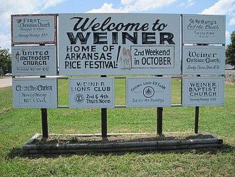 Weiner, Arkansas - Image: Weiner AR 002