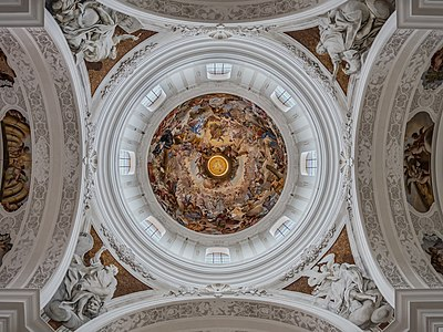 Dome of the monastery basilica St. Martin in Weingarten