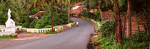 A typical road in Goa, India.
