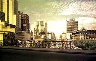 Vista parcial do Vale do Anhangabaú. São Paulo/SP