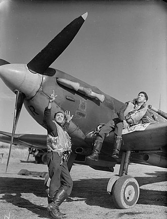 British African-Caribbean people - Bajan and Trinidadian pilots in the Royal Air Force during World War II
