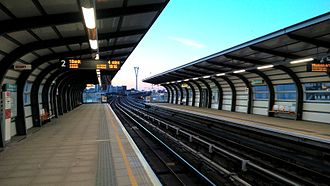 West Silvertown DLR station - Interior of the West Silvertown station