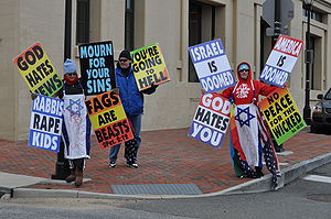 English: Members of the Westboro Baptist Churc...