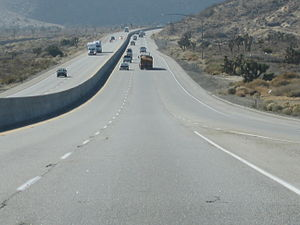 California State Route 58 - Westbound SR 58 near Mojave