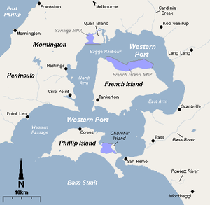 Western Port - Map of Western Port