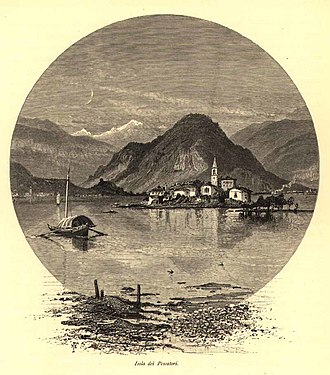Francis Walker (entomologist) - Isola Pescatori, Lake Maggiore by Josiah Wood Whymper