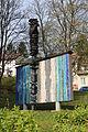 Wien-Penzing - Mosaik Organische Struktur von Heinrich Tahedl 1969 - Hartsteinzeugplastik Bewegungsrhythmus von Kurt Ohnesorg 1970.jpg