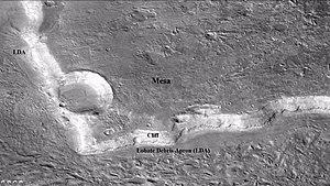 Fretted terrain - Image: Wikictxp 13clifflda