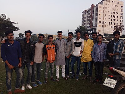 Wikipedians at Bogra Wikipedia meet-up, December 2017 (1).jpg