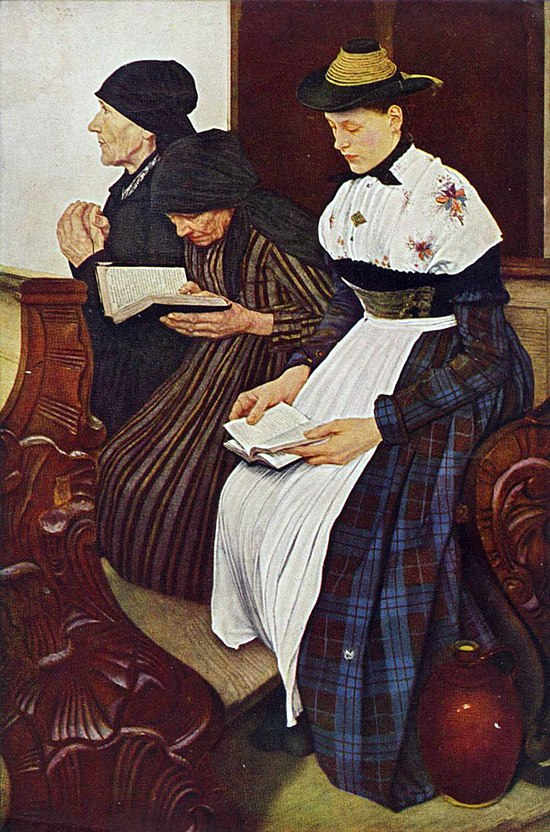 Wilhelm Leibl: Drei Frauen in der Kirche (1881)