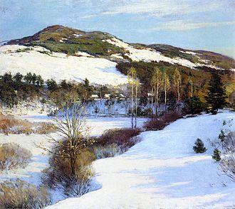 Willard Metcalf - Cornish Hills, 1911, oil on canvas
