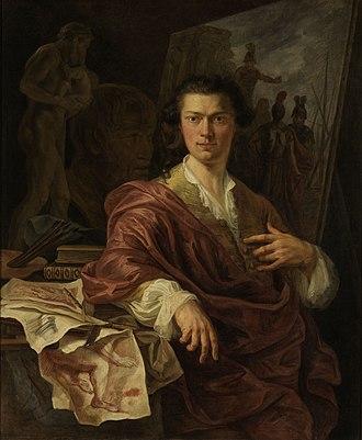 Willem Jacob Herreyns - Portrait of the painter Andries Cornelis Lens
