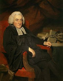 Portrait painting of William Robertson (1721-93), seated at a desk.