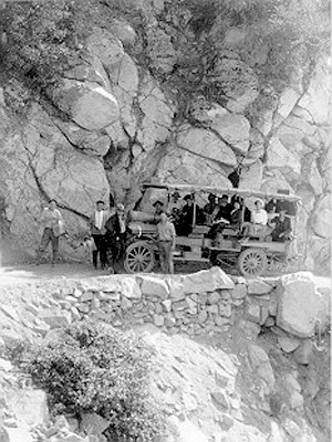 Mount Wilson Toll Road - Autocar on the Mt. Wilson Toll Road