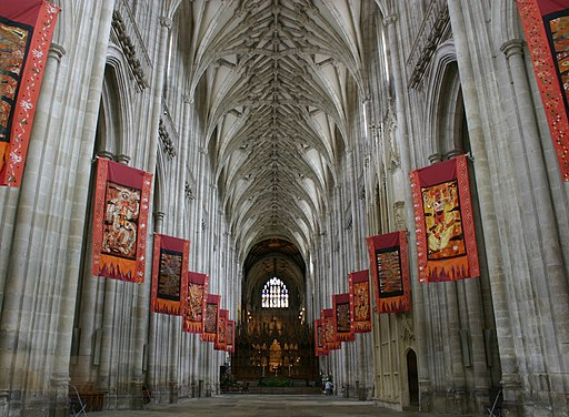 Winchester cathedral flags