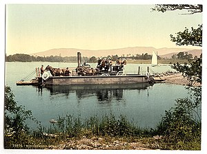 Windermere - Steam ferry on Windermere, circa 1895