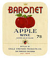 Wine label Eagle Vineyard Products Co. Baronet Apple Wine.jpg