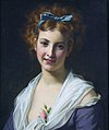Woman with blue bow, by Hugues Merle.jpg