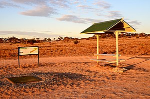 Teeing ground - The teeing ground of the Wombat Hole, Nullarbor Links, Nundroo, South Australia