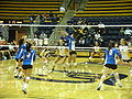 Women's volleyball, SJSU at Cal 2009-09-12 1.JPG