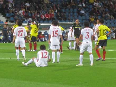 The team at the 2011 FIFA Women's World Cup Women's world cup 2011 North Korea - Colombia.jpg