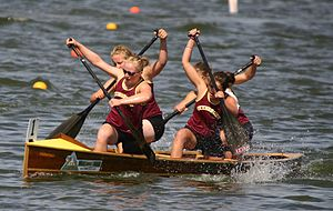 Paddle - Team of the Boating Club de Canotage Otterburn using canoe paddles
