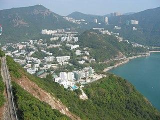 Wong Chuk Hang Suburb in Southern District, Hong Kong