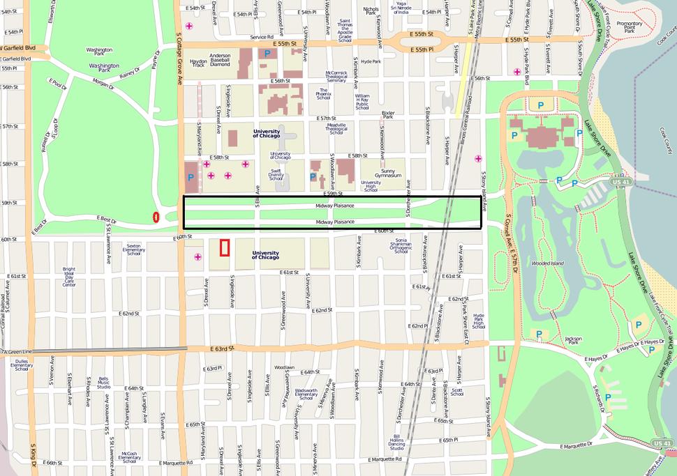 Woodlawn Streetmap Image