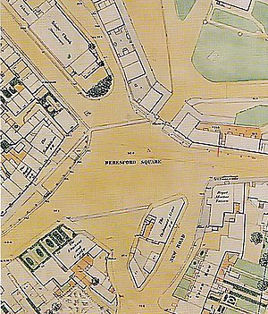 Beresford Square - OS map of 1853