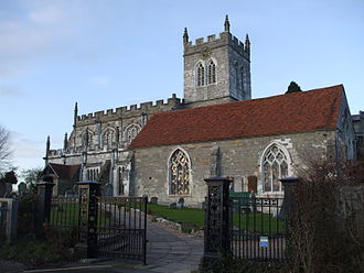 Wootton Wawen - St Peter's church from the south-east