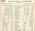 Wrocław Narrow Gauge Railway Timetable.png