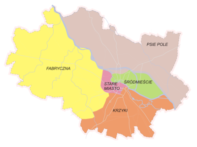 Wroclaw city districts.png