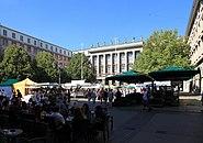 Wuppertal - Johannes-Rau-Platz - Bauernmarkt 2012 01 ies