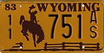 Wyoming 1983 license plate - 11 751 AS.jpg