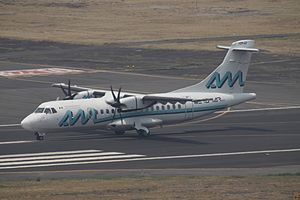 Aeromar - An ATR 42 at Mexico City.