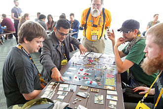 X-COM - The XCOM board game being played at the GDC 2015