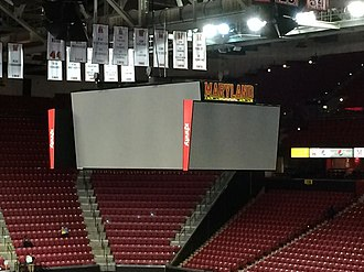 Xfinity Center (College Park, Maryland) - New videoboard installed prior to the 2014-15 season