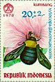 Xylocopa flavonigrescens 1970 Indonesia stamp.jpg